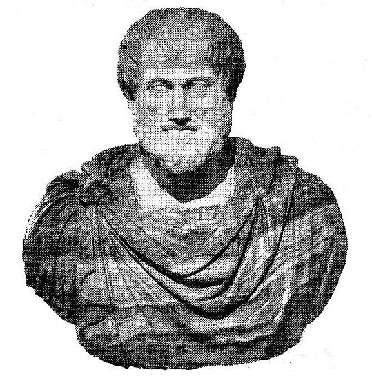 Назовите античного учёного, изображённого на фотографии, который занимался в том числе и зоологией